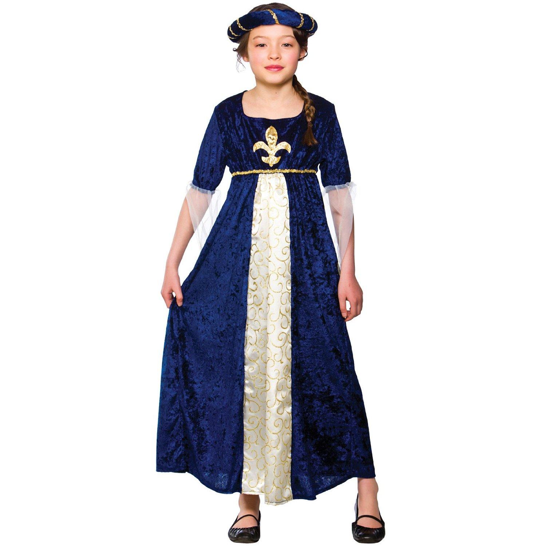 Girls Regal Tudor Princess Costume Fancy Dress Up Party Halloween Medieval  Kids