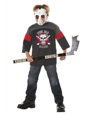 Deluxe Child Blood Sport Costume with Hockey Stick Halloween Fancy Dress
