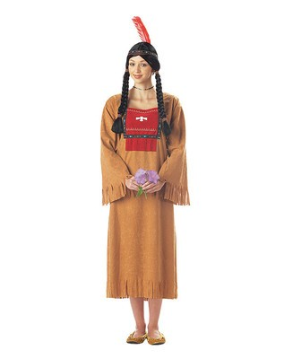 Running Brook Native Indian Costume Women Fancy Dress Halloween