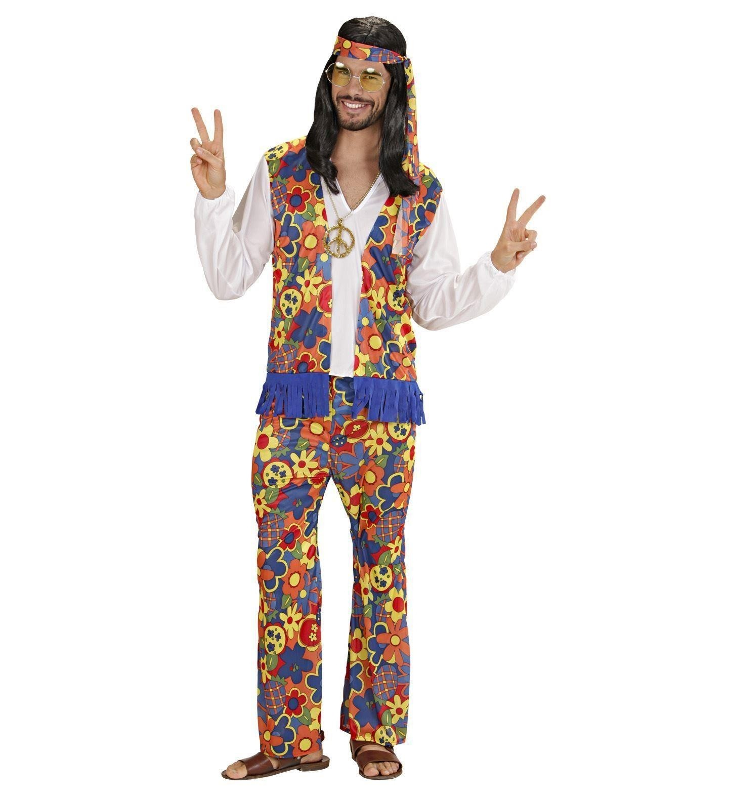Hippie Man 60s Small Adult Fancy Dress Costume