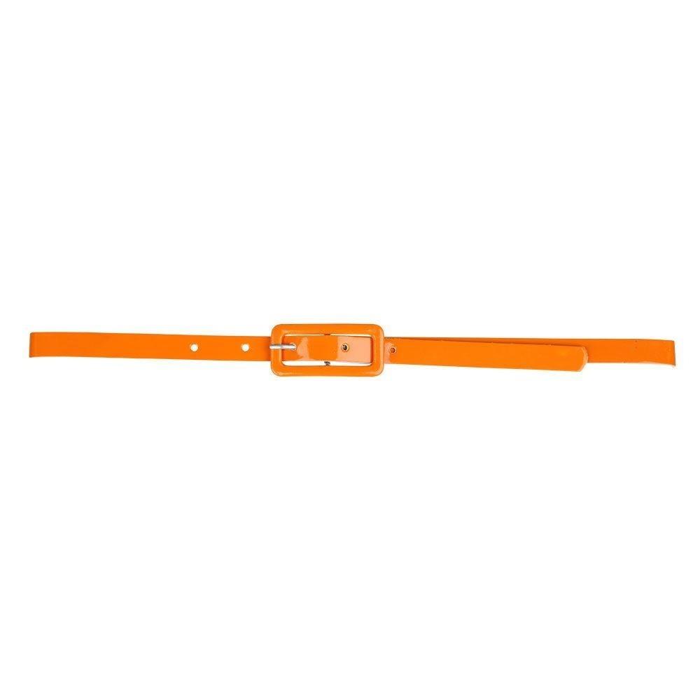 80's Neon Belt Orange One Size Adult Fancy Dress Accessory