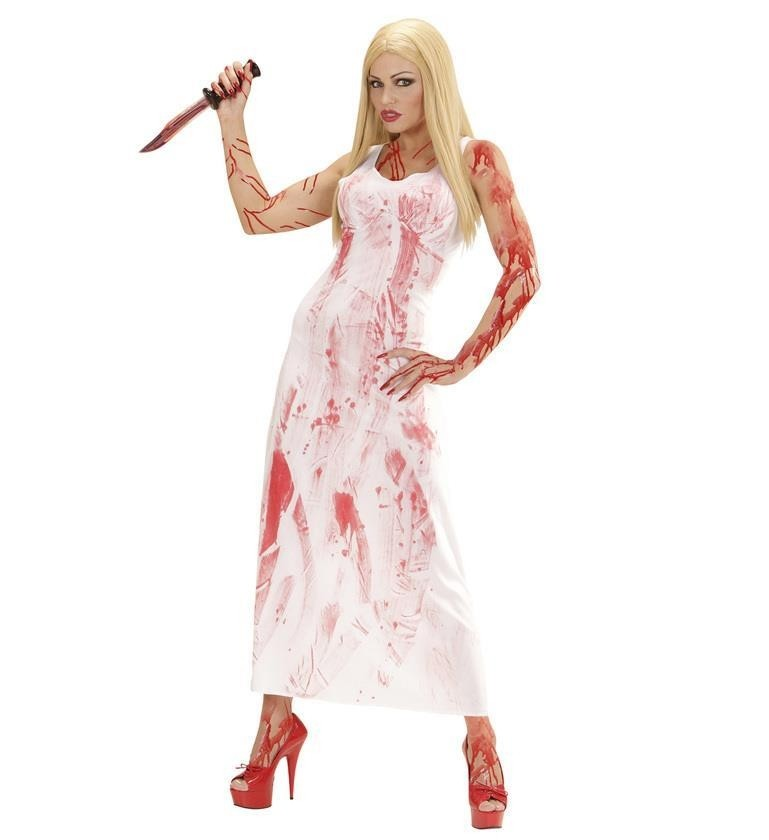 Bloody Mary White Large Halloween Adult Ladies Fancy Dress Costume