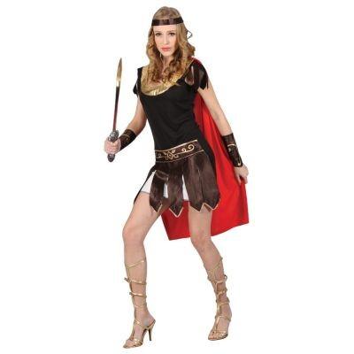 Ladies Sexy Roman Centurian Soldier Gladiator Warrior Fancy Dress Costume