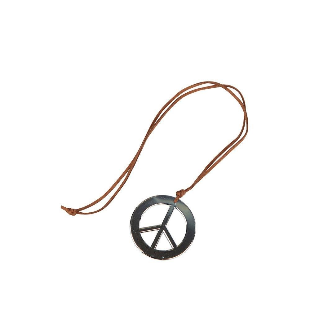 Hippie Peace Necklace One Size Adult Fancy Dress Accessory