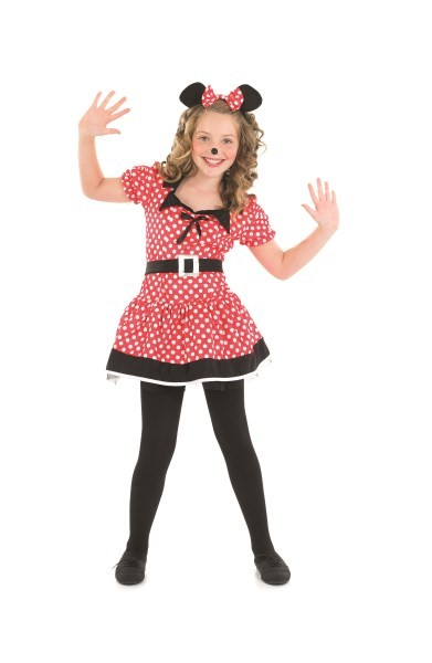 Little Missy mouse Kids Fancy Dress Girls Movie Costume
