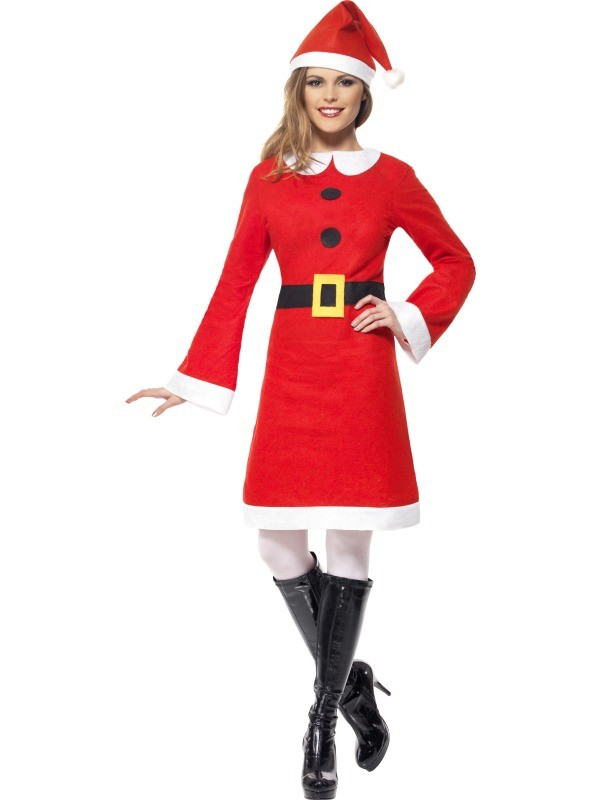 Economy Miss Santa Costume Woman Christmas Fancy Dress