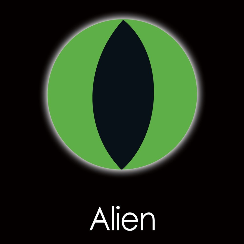 XtremeEyez - One Day - ALIEN Halloween Contact Lenses