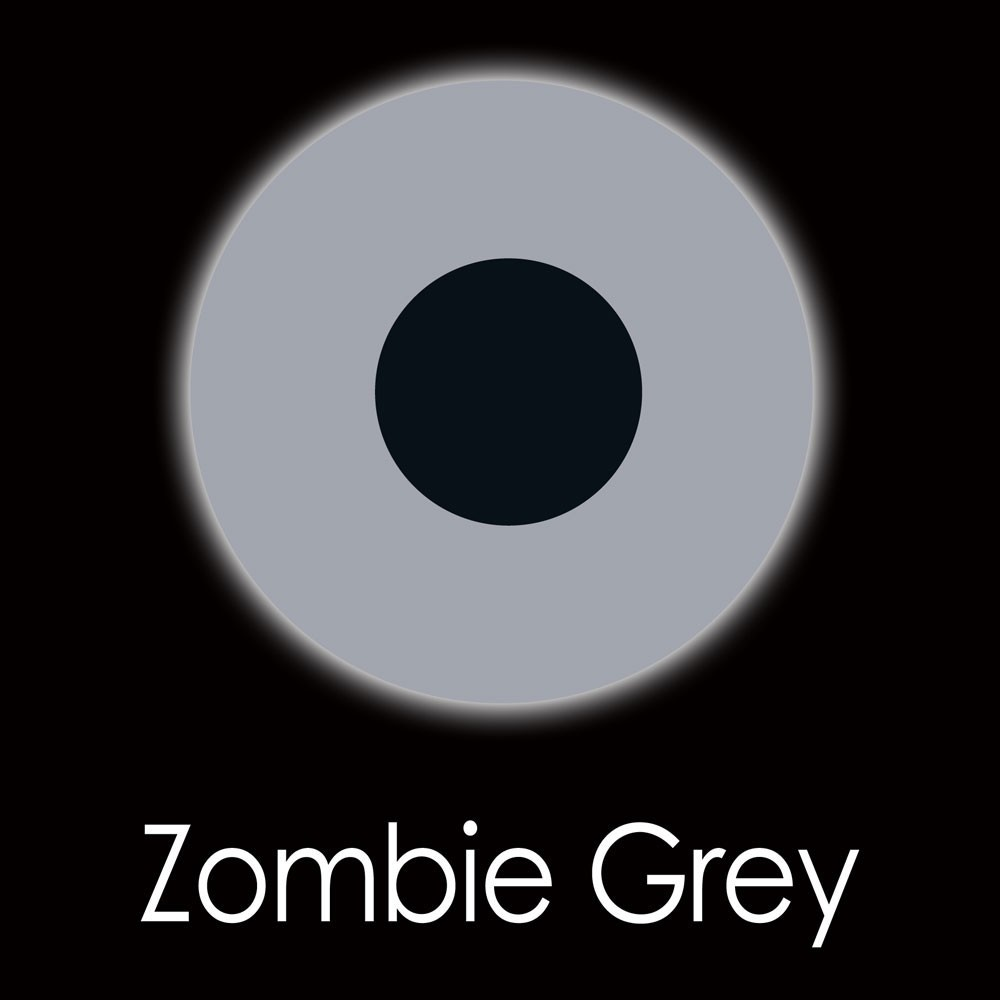 XtremeEyez - One Day - ZOMBIE GREY Halloween Contact Lenses