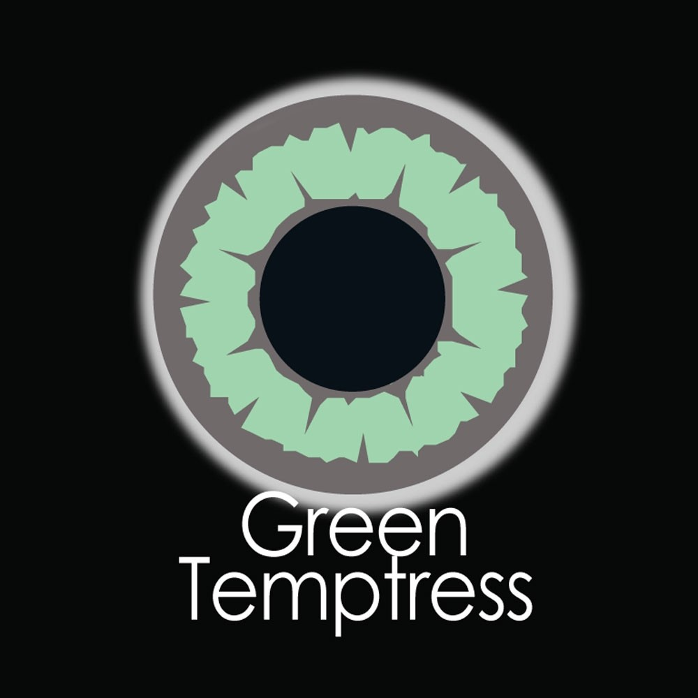 XtremeEyez - One Day - GREEN TEMPTRESS Halloween Contact Lenses