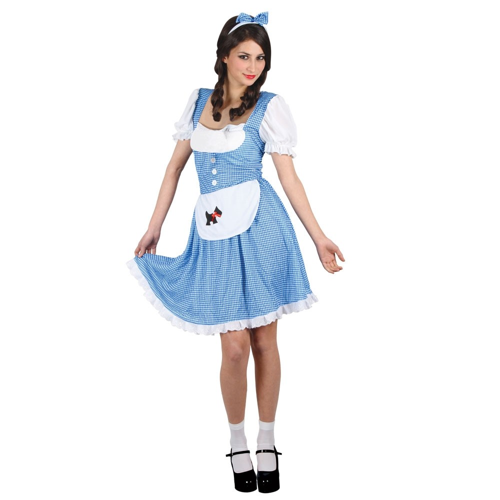 Country Girl Woman Fancy Dress Up to XXL Plus Size Costume