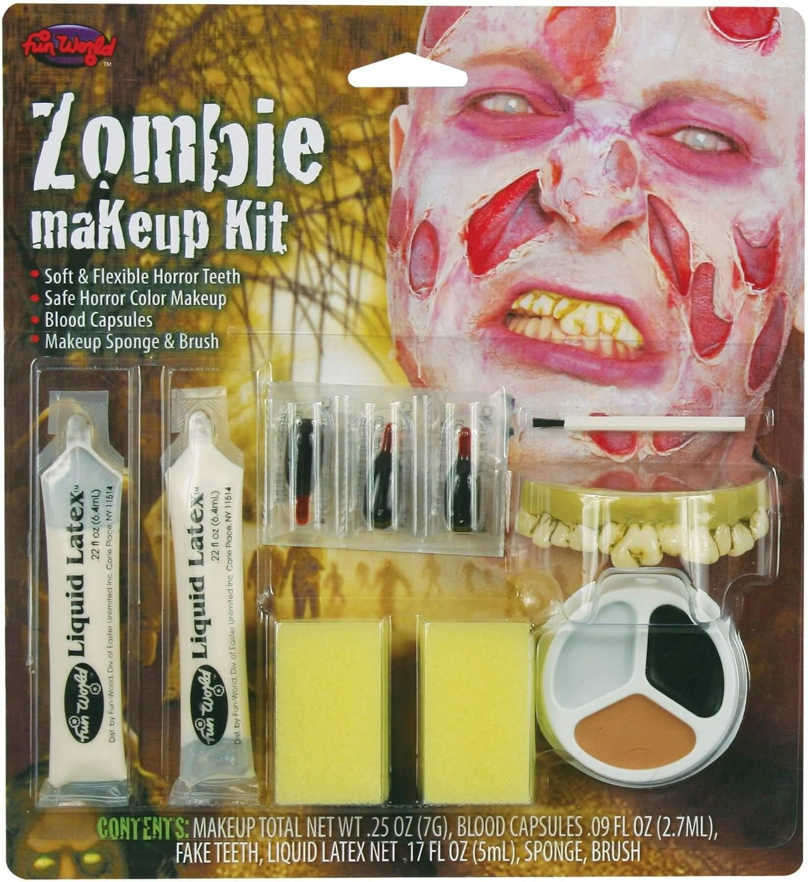 Zombie Peeling Skin Halloween Makeup Kit Fancy Dress Accessory