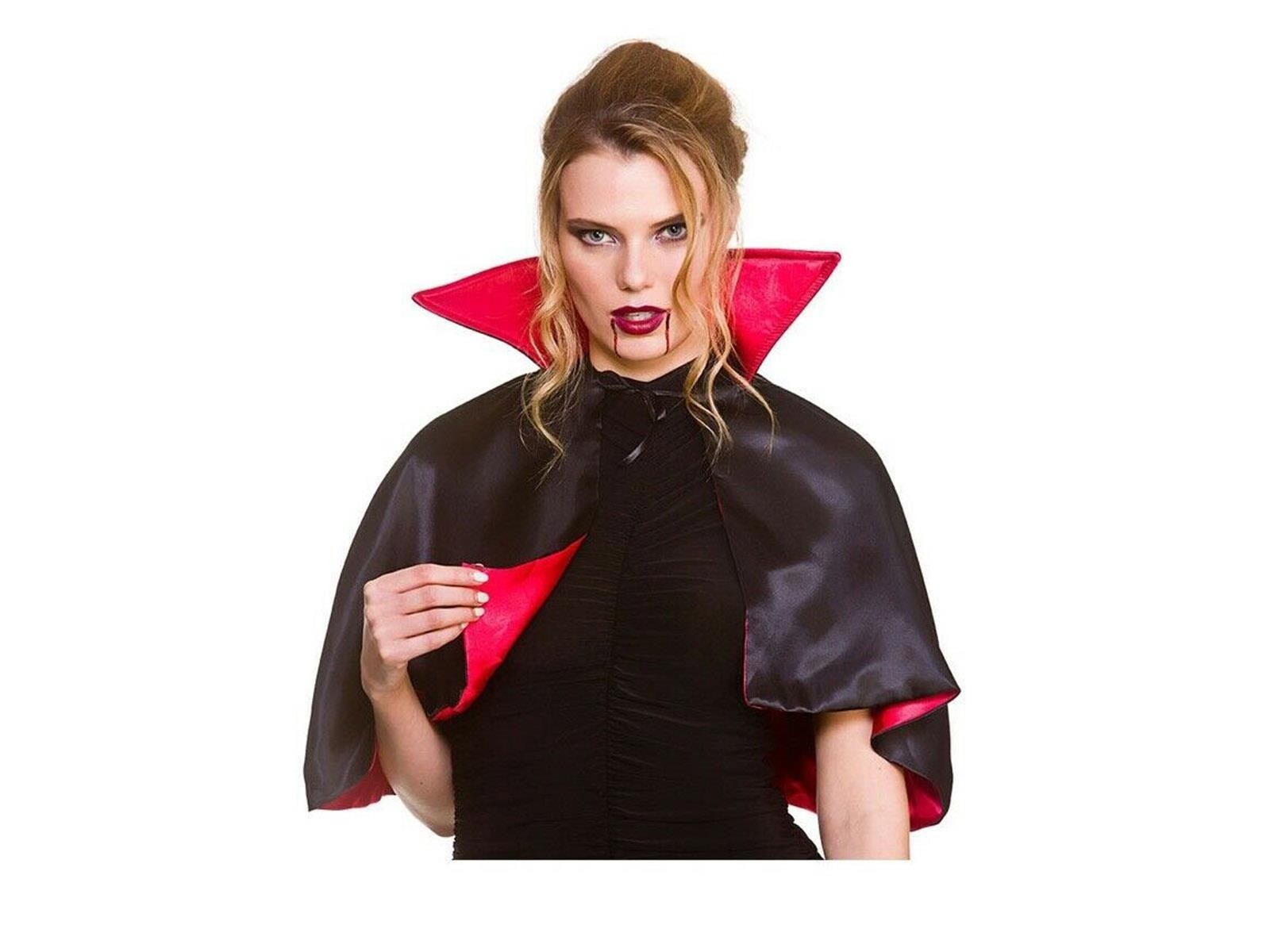 Deluxe Lined Mini Vampire Cape One Size Adult Fancy Dress Accessory