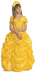 Children's Beauty Queen Yellow Dress Costume Medium 8 to 10 yrs (140cm) for Fairytale Fancy Dress
