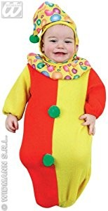 Baby Bunting Clown Costume Childrens Fancy Dress Costume