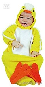 Children's Baby Bunting Chick Costume for Animal Jungle Farm Fancy Dress