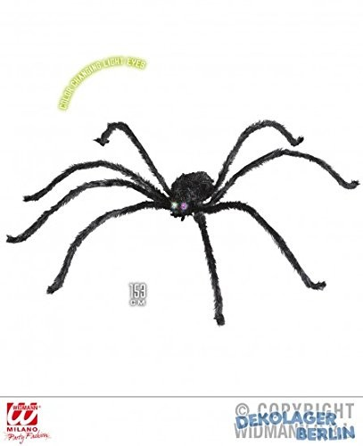 GIANT SPIDER W/COLOUR CHANGE EYES 153cm