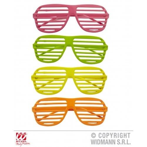 NEON SHUTTER GLASSES pink, green, yellow, orange