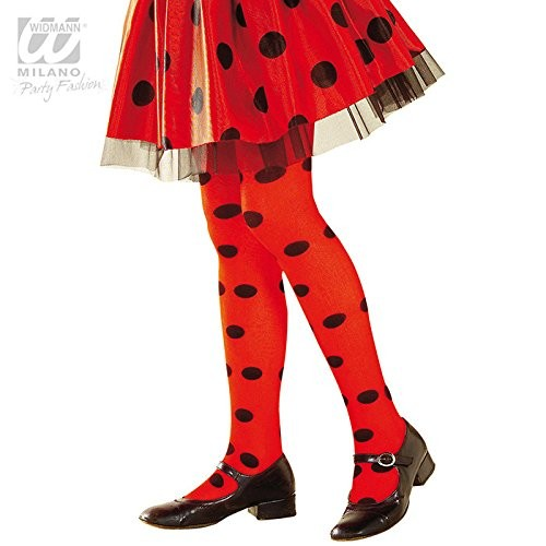 LADYBUG PANTYHOSE - RED/BLACK SPOT - 1-3yrs