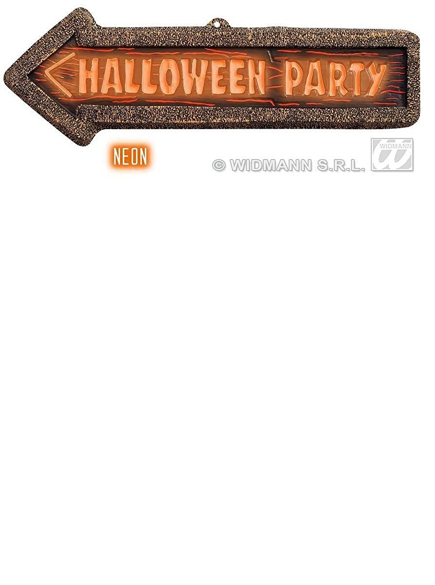 3D Neon Painted Halloween Party Signs 56x17cm Accessory for Halloween Fancy Dress