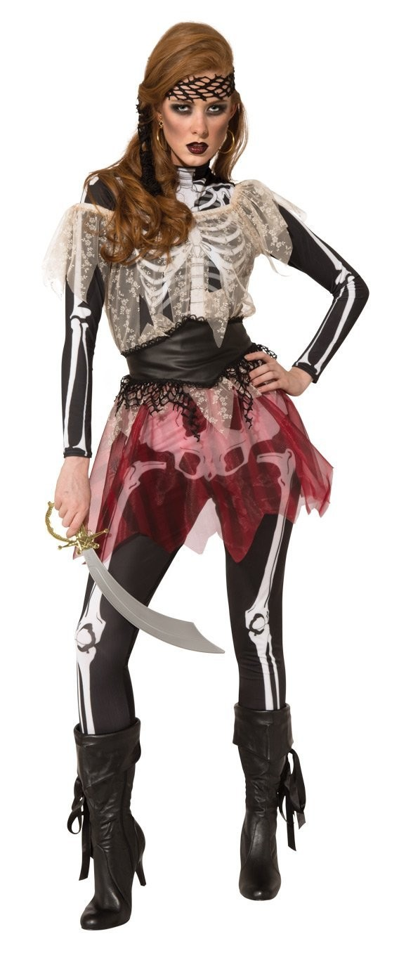 Skellie Pirate Wench Halloween Costume Skeleton Fancy Dress