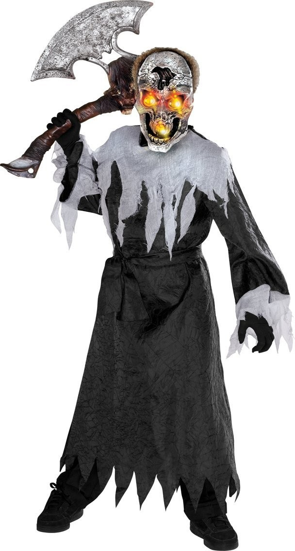 Skull Ligthup Costume Kids Halloween Fancy Dress