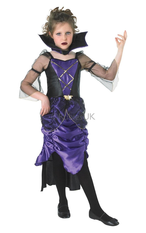 Gothic Vampiress Kids Halloween Girls Vampire Costume