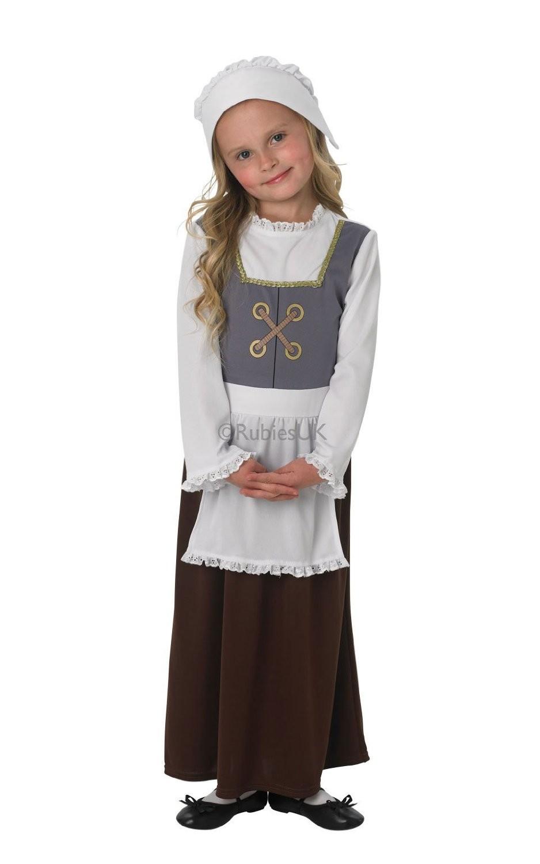 Tudor Girl - Childrens Fancy Dress Costume - Small 3-4 yrs old