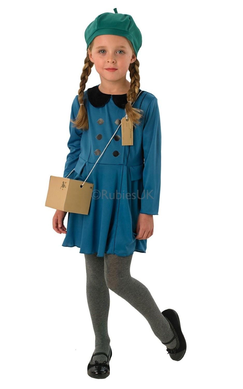 Evacuee Girl - Kids Costume WW1 or WW2 Fancy Dress
