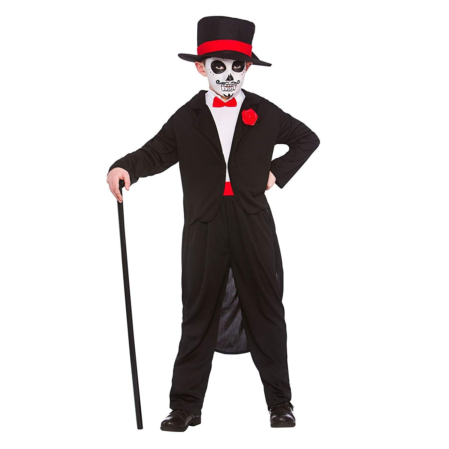 Boys Day of the Dead Senor Horror Fancy Dress Up Party Role Play Costume