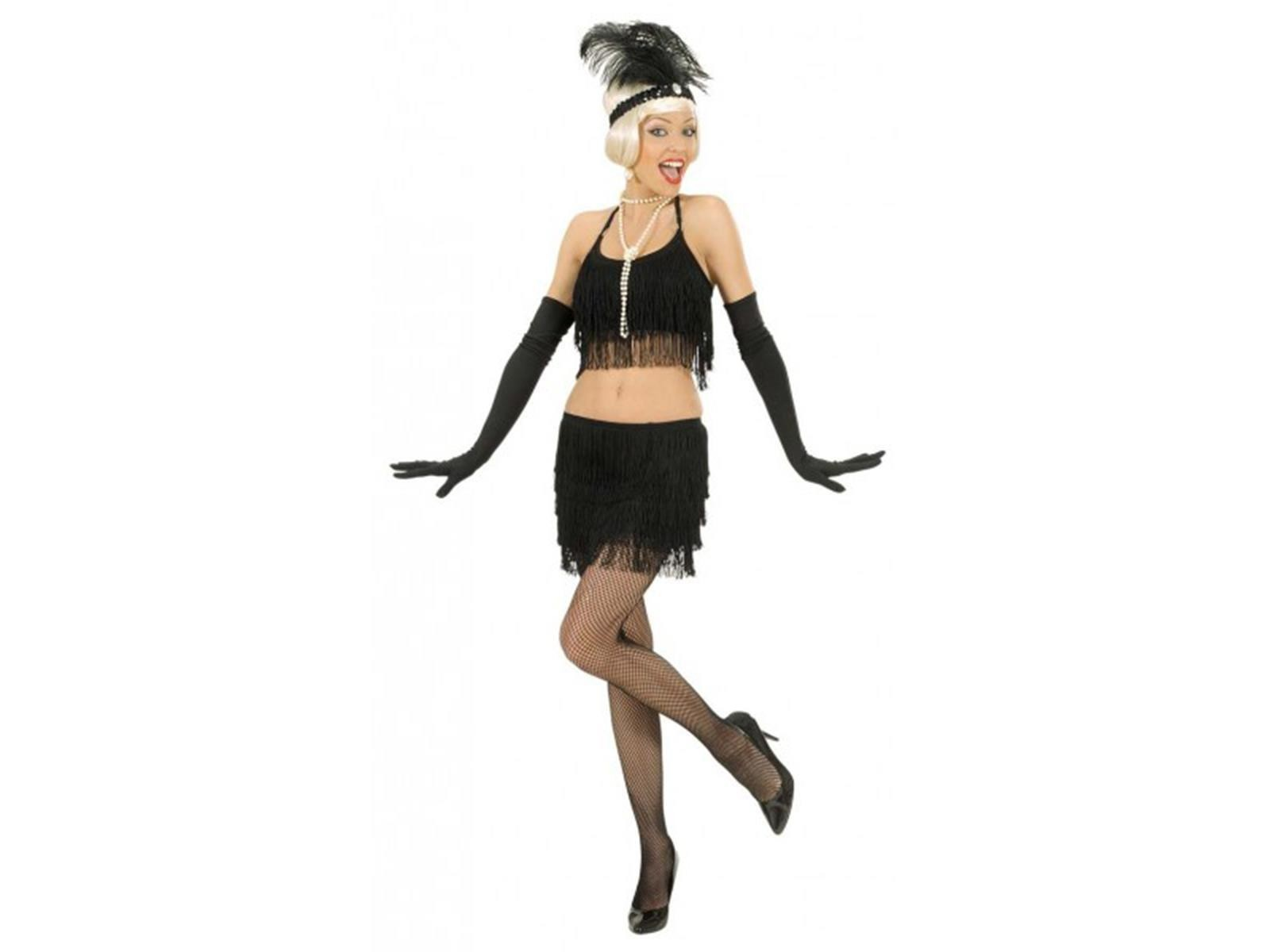 Fringed Skirt and Top Small UK 8-10 Adult Ladies Fancy Dress Costume
