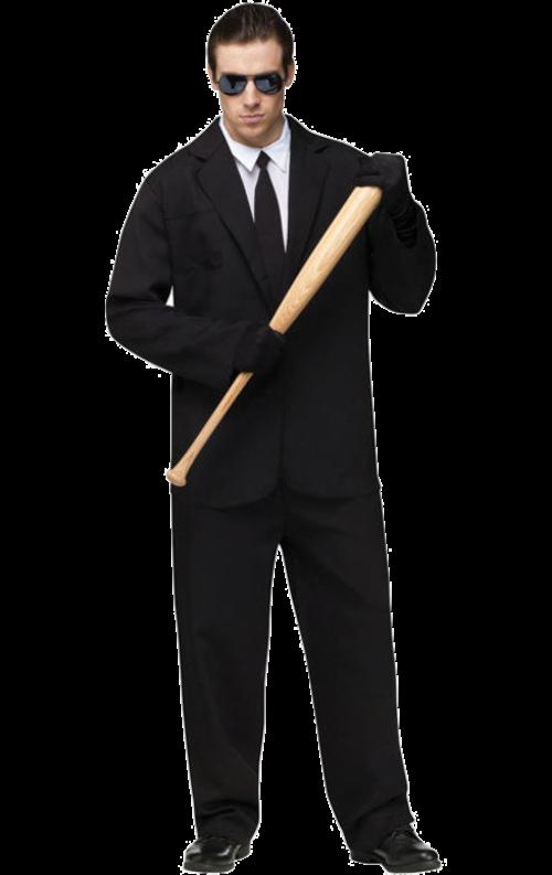 Black Suit Costumes Adult One Size Fancy Dress
