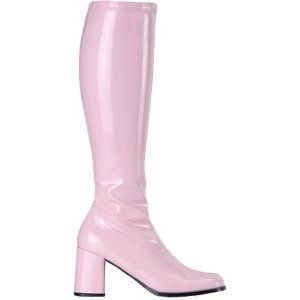 60s 70s Wicked Groovy Baby Pink Abba GoGo Boots