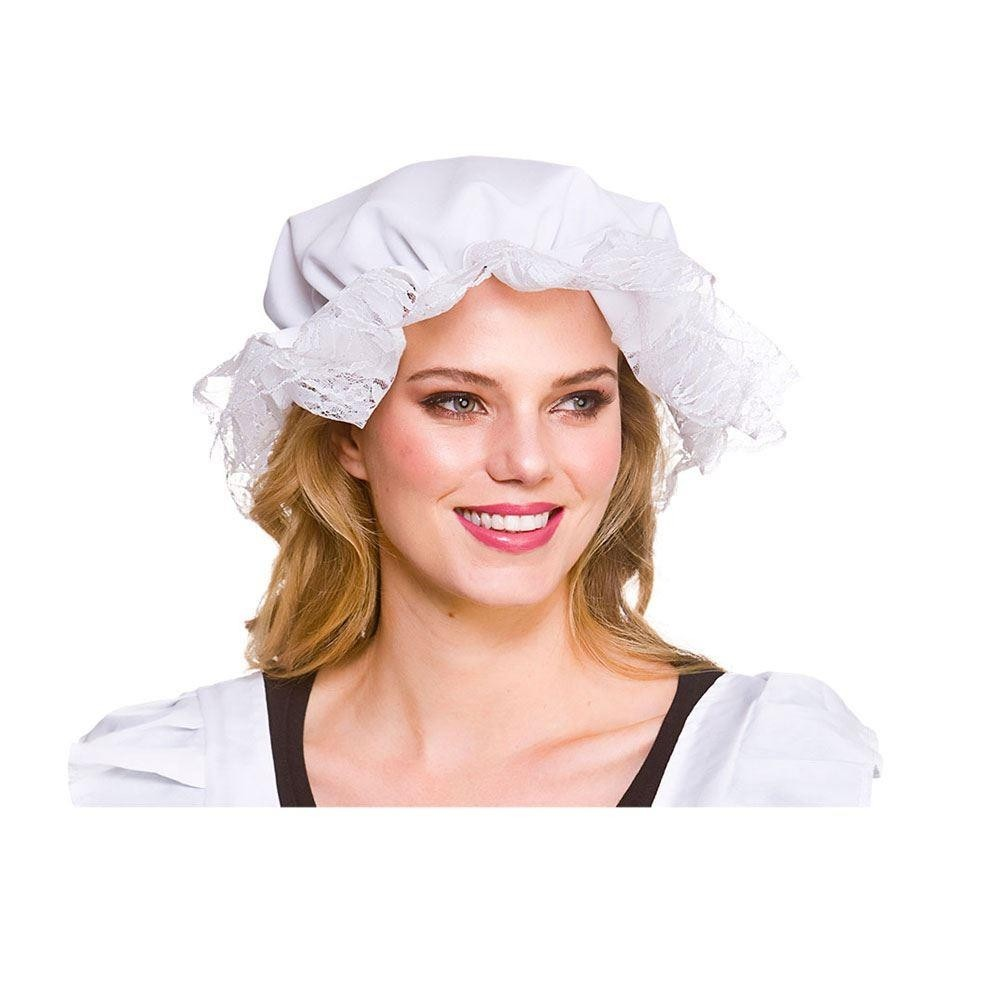 Victorian Mop Hat White One Size Adult Fancy Dress Accessory