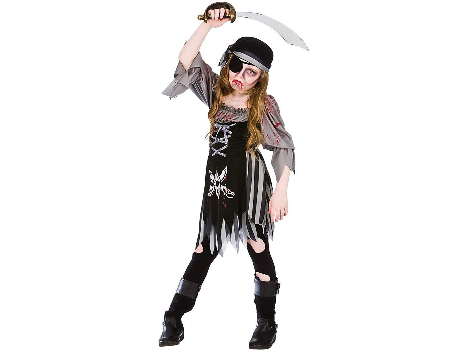 Zombie Ghost Pirate Large 8-10 Girls Fancy Dress Costume