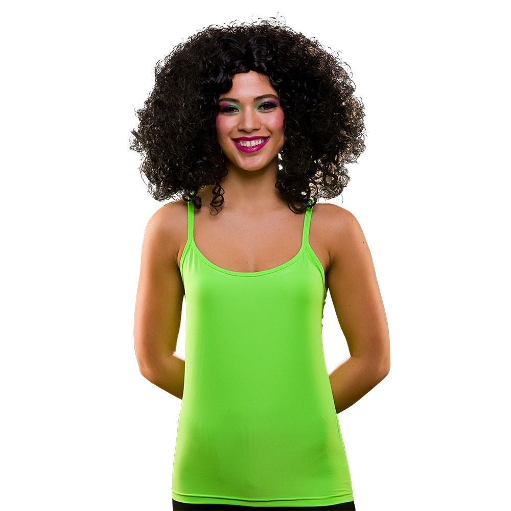 80's Neon Vest Top Green Adult Ladies Fancy Dress