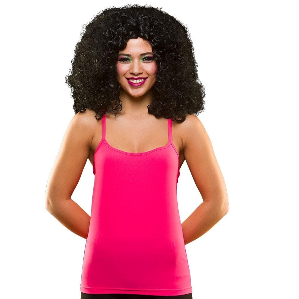 80's Neon Vest Top Hot Pink