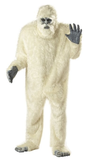 Abominable Snowman Mens Costume Halloween Fancy Dress