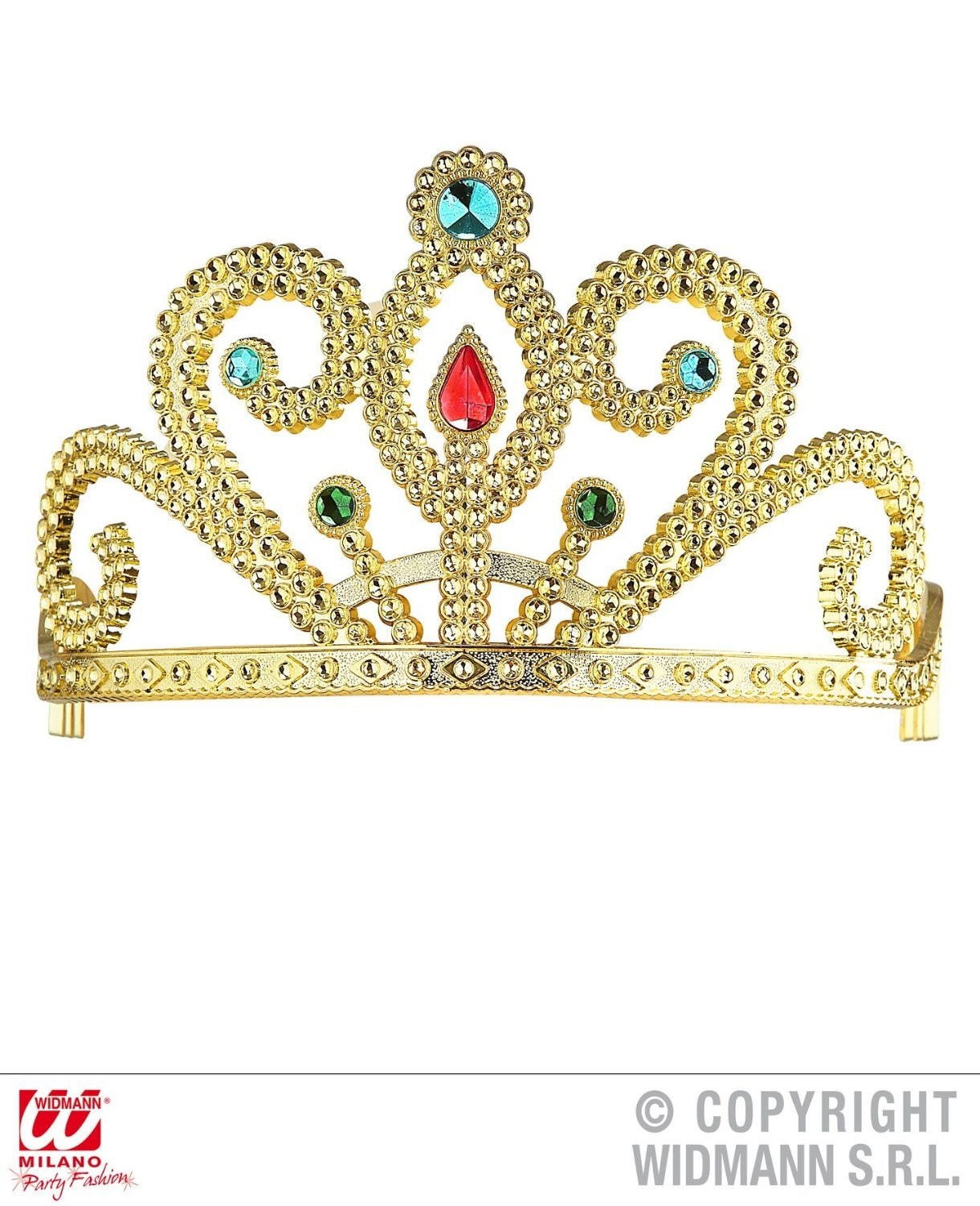 TIARA WITH GEMS - GOLD