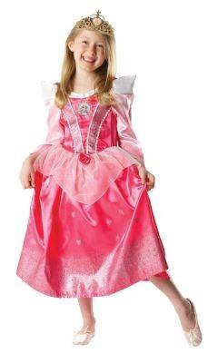 Girls Glitter Sleeping Beauty Fancy Dress Costume All Sizes