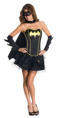 Ladies Batgirl Corset and tutu Fancy Dress Batman Movie Costume