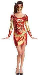 Ladies Pepper Potts Iron man Adult Fancy Dress Super Hero Costume