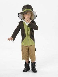 Victorian Kids Book Week Urchin, Maid and Pickpocket Fancy Dress Costume