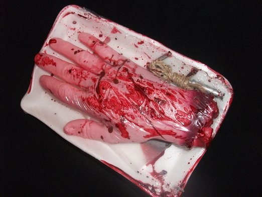 PACKAGED BLOODY HAND