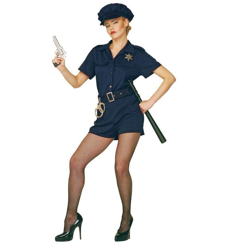 Cop Lady Set Large UK 14 - 16 Adult Ladies Fancy Dress Costume