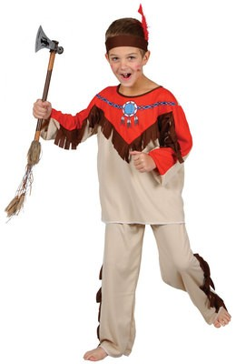 NATIVE INDIAN CHILDREN KIDS COSTUME FANCY DRESS UP PARTY