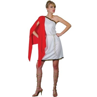 Adult roman temptress fancy dress toga costume Greek goddess