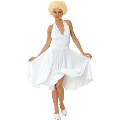 HOLLYWOOD STARLET COSTUME ALL SIZES -  FANCY DRESS Marylin Monroe dress