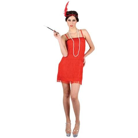 Red Flapper Showtime Girls Fancy Dress Costume