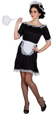CLASSIC FRENCH MAID BUDGET LADIES COSTUME FANCY DRESS UP PARTY