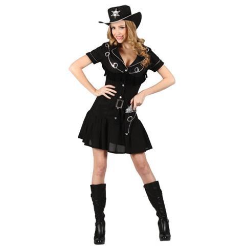 Gunslingin Cowgirl Wild West Womens Fancy Dress Costume